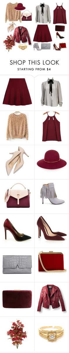 """""""Skirt"""" by marciabackermendes ❤ liked on Polyvore featuring Valentino, Lanvin, Secret Garden, Gianvito Rossi, Vince, Balmain, Kayu, Mauboussin, women's clothing and women's fashion"""