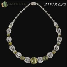 Cat's eye chrysoberyl and diamond necklace for your special one @ https://shop.catseye.org.in/