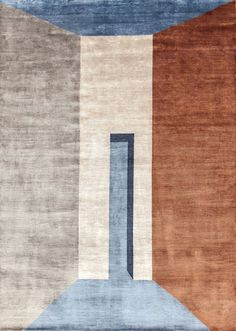 Copper | bamboo fibre rug By sirecom tappeti, handmade square rectangular bamboo fibre rug design Reverso Design, prospettive Collection