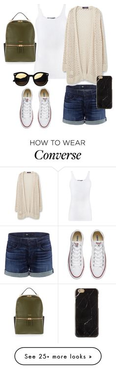 """""""Untitled #152"""" by ntone3 on Polyvore featuring 3x1, Vince, Violeta by Mango, Converse and Henri Bendel"""