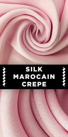 Italian Silk Marocain Crepe in Light Pink Different Types Of Fabric, Kinds Of Fabric, B And J Fabrics, Textile Fabrics, Textile Pattern Design, Fabric Patterns, Sequin Fabric, Crepe Fabric, Fashion Infographic