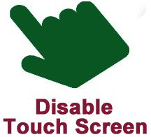 How to disable the touch screen in Windows 8 and Windows 10