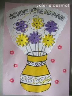 joli pot de fleurs bonne fête maman
