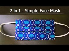 Easy Face Masks, Best Face Mask, Diy Face Mask, Sewing Hacks, Sewing Tutorials, Knit Patterns, Sewing Patterns, Simple Face, Pocket Pattern