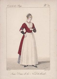 Klederdracht: Noord-Holland. ca 1800. graveur: G-J Gatine (1773-1824)