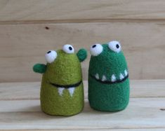 Verkauf gefilzt Monster gefilzt freundlich Monster Figur, Nadel gefilzt kleines Spielzeug, Monster-Miniatur-Monster-Ornament, Filz Spielzeug, Wolle Monster