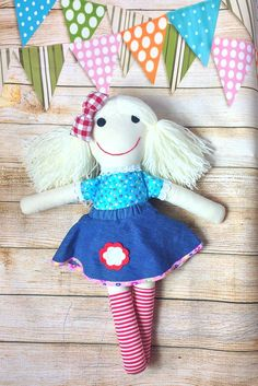 Soft Doll Fabric Doll Cloth Doll First Doll by Selling On Pinterest, Soft Dolls, Mild Soap, Fabric Dolls, Doll Clothes, Cotton Fabric, Etsy Seller, Felt, Play