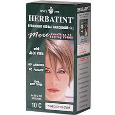 Herbatint (Antica Herbavita), Permanent Herbal Haircolor Gel, 10C, Swedish Blonde, 4.56 fl oz (135 ml) - iHerb.com