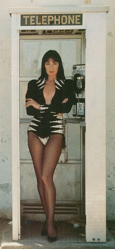 Angelica Huston in Thierry Mugler