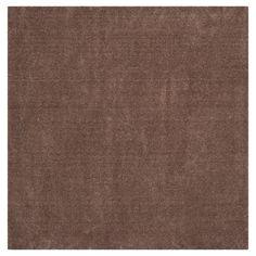 """Velvet Shag Rug - Dark Beige - (6'7""""X6'7"""" Square) - Safavieh"""