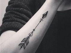 Forearm Arrow Tattoo at MyBodiArt
