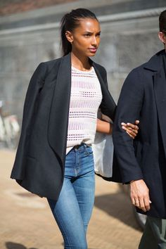 Jasmine Tookes the lovely ladies of Denmark showcase their street style great pictures from #HarpersBazaar Magazine