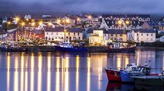 """This fairy tale photo is of Portmagee located on the Iveragh peninsula south of Valentia Island. Its name in Irish """"An Caladh"""" means """"the ferry"""", referring to the fact that it was a crossing point for Valentia Island."""