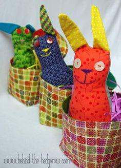 3 bunnies in basket inside WM