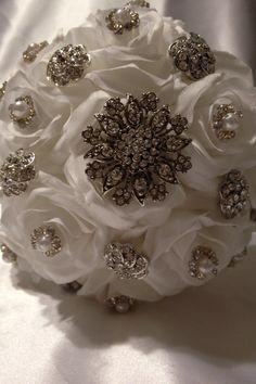 My Silver Wedding Anniversary Brooch Bouquet