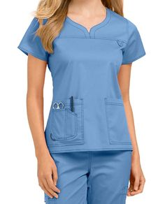 Med Couture MC2 Lexi Notch Neck Scrub Tops | Scrubs & Beyond Doctor Scrubs, Medical Scrubs, Scrub Tops, Rain Wear, Couture Collection, Dress Patterns, Stretch Fabric, Neckline, Rompers