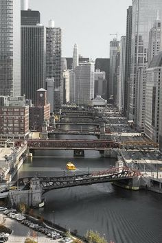 As pontes de Chicago.