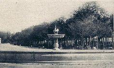 1864. Fuente del Cisne en el Paseo de la Castellana. Fotografía de Alfonso Begué. | Flickr: Intercambio de fotos