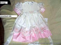 flower girl dress smocked soft japanese silk 0427820744 for sale