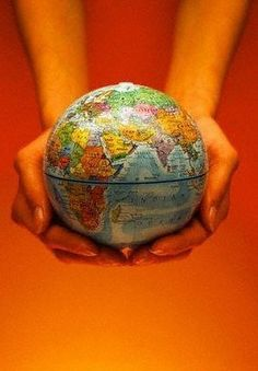 He's got the whole world in his hands :)