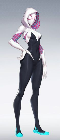 Spider Gwen into The Spider-Verse Marvel Girls, Comics Girls, Marvel Art, Marvel Heroes, Marvel Characters, Female Characters, Disney Marvel, Disney Disney, Spiderman And Gwen