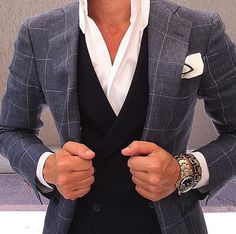 Oooh double-breasted waistcoat with notch lapel jacket