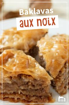 Baklava aux noix – The Best Arabic sweets and desserts recipes,tips and images Most Popular Desserts, Macedonian Food, Greek Sweets, Arabic Sweets, Dough Ingredients, Sweet Pastries, Perfect Food, Queso, Food Hacks