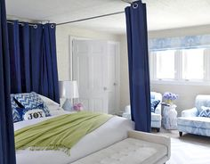 Curtain rod four poster bed!!