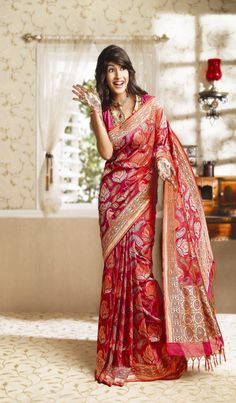 Bridal Saree suggested by http://www.shaadiekhas.com/