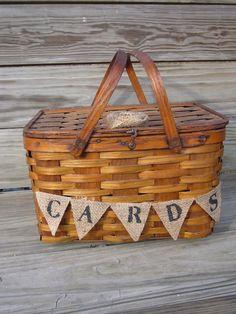 Picnic basket for cards