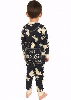 43f1c896eb Lazy Z 2018 Blue Classic Moose Kids Flapjack Pajamas