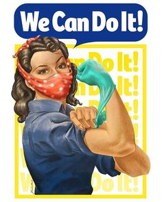 Illustrations, Illustration Art, Lab Humor, Propaganda Art, Rosie The Riveter, Masks Art, We Can Do It, Photo Wall Collage, Street Art