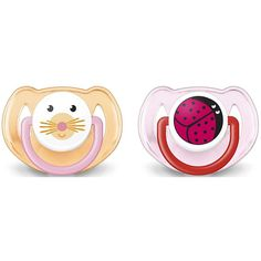 http://www.toysstoresonline.com/category/avent-pacifier/ Philips AVENT Animal Pacifier 6-18 Months (2 pack) for Girl