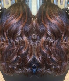 Warm caramel balayage. Perfect fall haircolor!! Hair by Rachel Fife @ Sara Fraraccio Salon in Akron, Ohio