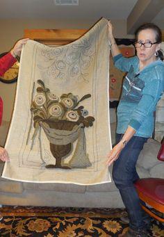 ANITA HOOKS RUGS: Gathering on the Blue Nebraska workshop