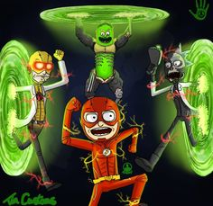 Rick and Morty x The Flash