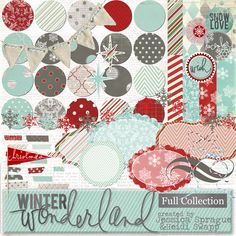 In this collection, packed with wintery imagery & cool red, blue, and grey colors, you'll get 28 papers and over 50 embellishments to help you decorate, celebrate, and commemorate your holidays!