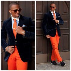 How many men you know can pull this color off, this is a great combo...