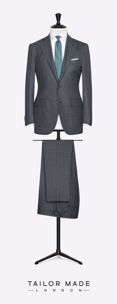 Tailor Made London Grey 2-piece suit. #menweddingsuits