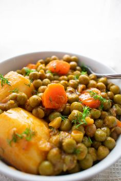 Stewed Sweet Peas With Carrots And Potatoes Healthy Vegetable Recipes, Pea Recipes, Greek Recipes, Soup Recipes, Cooking Recipes, Greek Meals, Potato Recipes, Vegetarian Side Dishes, Tasty Vegetarian Recipes