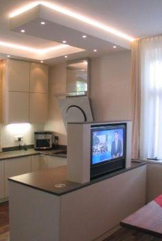 Wohnküche mit Natursteinplatte - Verstecktes Highlight