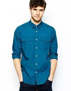 ASOS Military Shirt With Long Sleeves