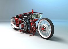 Another crazy motorcycle concept from Russian designer Mikhail Smolyanov, aka Solif.