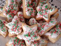 Biscoito de Natal Christmas Sugar Cookies, Christmas Desserts, Shortbread Recipes, Cookie Recipes, Christmas Hot Chocolate, Four, Cake Cookies, Cookie Decorating, Biscuits