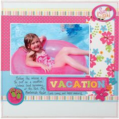 Vacation featuring Makin' Waves from Imaginisce - Scrapbook.com
