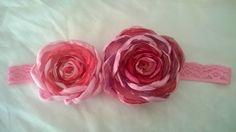 DIY Hairband, fabric flowers
