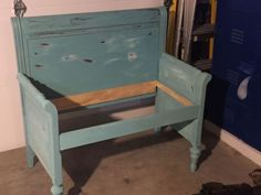 the uncomfortable bench, painted furniture, repurposing upcycling, reupholster