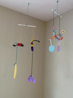 Art Project for Kids: Calder Inspired Mobile (Recycled Craft)