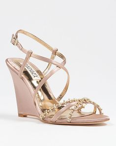 Melissa Strappy Wedge Evening Shoe $225 - come in gold, silver and ...