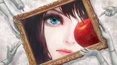 Anime / Manga Art Apple Frame Blue Eyes